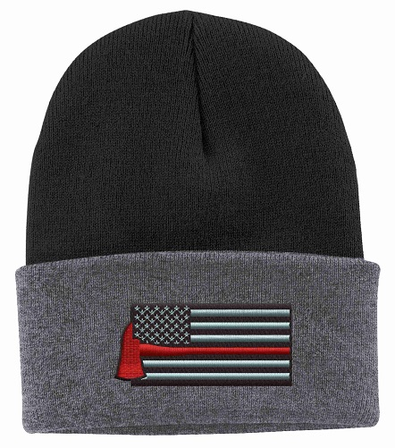 Thin Red Line Axe Beanie